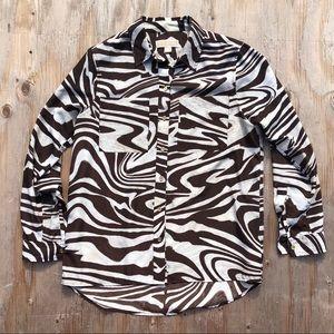 Michael Kors button down blouse top